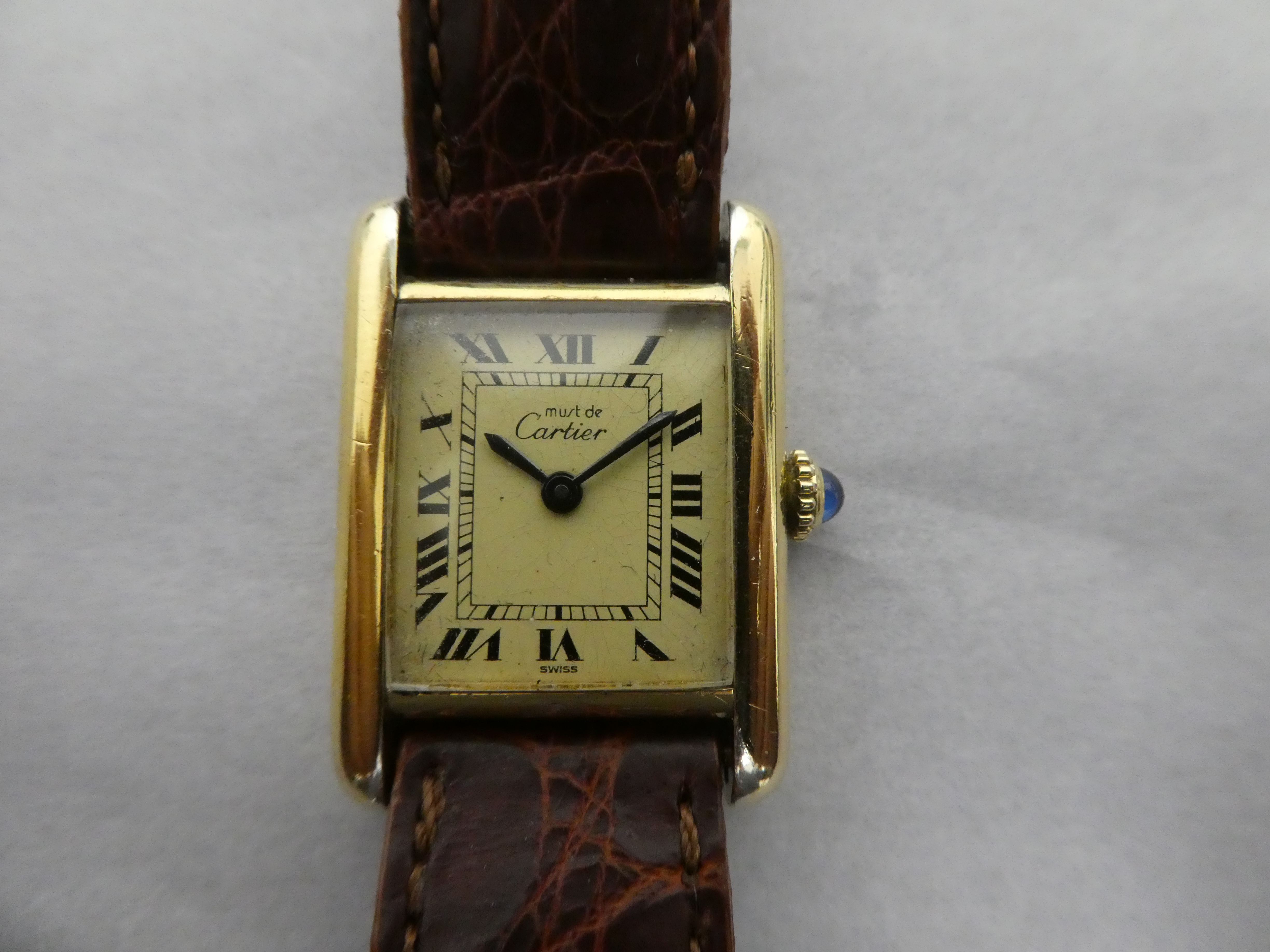 client sent supposedly cartier her tank vintage service on a bay serviced e will newly has running stopped was ago s eta calibre in bought watch and mitka it watches moths classic i